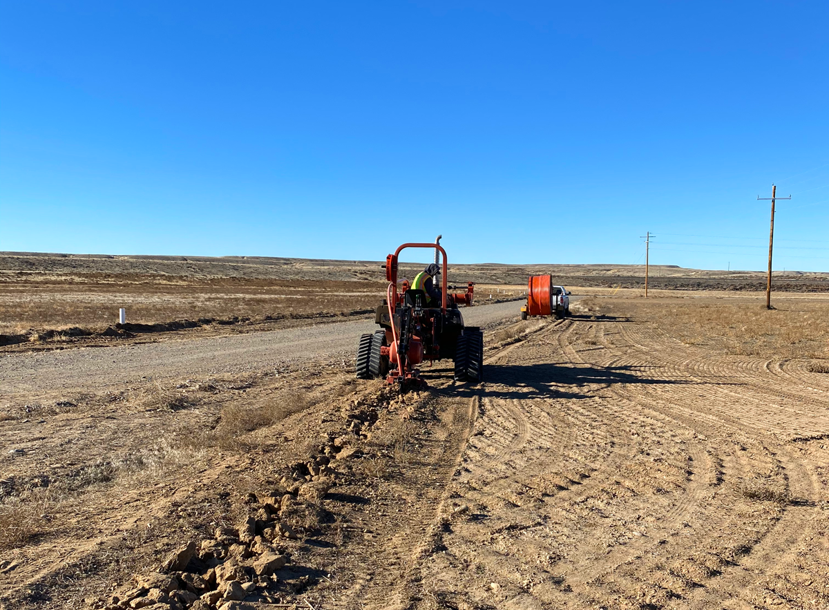 Nicholson Construction Plowing Fiber